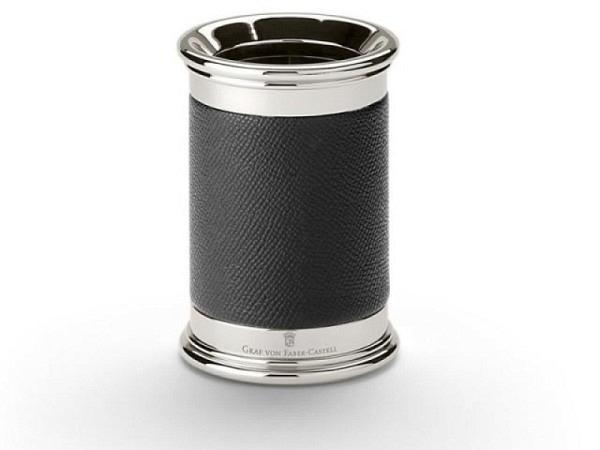 Köcher Graf von Faber-Castell schwarze Lederummantelung