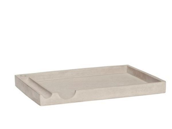 Pultschale Hübsch aus Zement helles grau