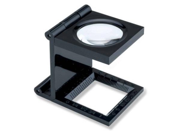 Lupe Fadenzähler Kunststoff schwarz Durchmesser 25mm