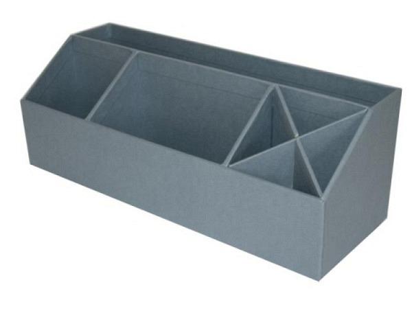 Bürobutler Bigso Box Papierbezug Elisa blau