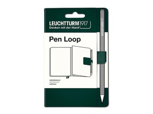 Stifthalter Leuchtturm für Agenden, selbstklebende Stiftschlaufe limone
