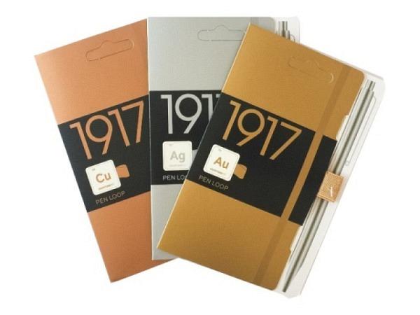 Stifthalter Leuchtturm für Agenden, selbstklebende Stiftschlaufe azur