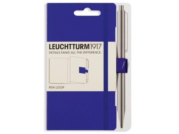 Stifthalter Leuchtturm für Agenden, selbstklebende Stiftschlaufe violett