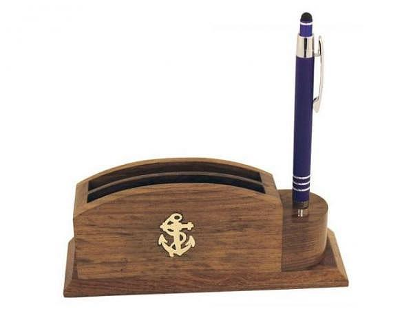 Bürobutler Seaclub Anker, Stifthalter und zwei Fächer für Notizzettel