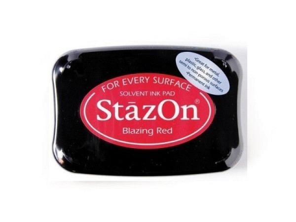 Stempelkissen StazOn blazing red 6x10cm, schnelltrocknend