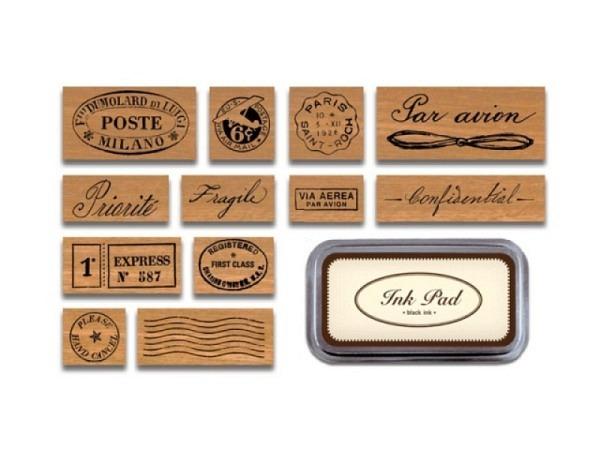 Stempel Cavallini Par Avion Stamps, 12 Motive für Luftpost