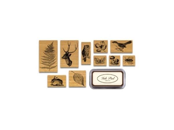 Stempel Cavallini Flora und Fauna Stamps mit 10 Motiven