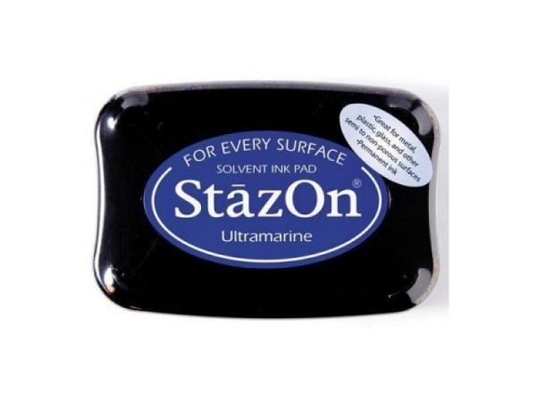 Stempelkissen StazOn ultramarine 6x10cm, schnelltrocknend