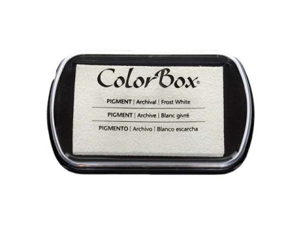 Stempelkissen Color Box 4,7x7,6cm Frostweiss, dokumentenecht