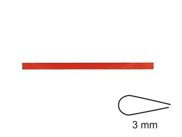 Klemmschiene 3mm rot A4, klemmt ca. 30Blatt fest