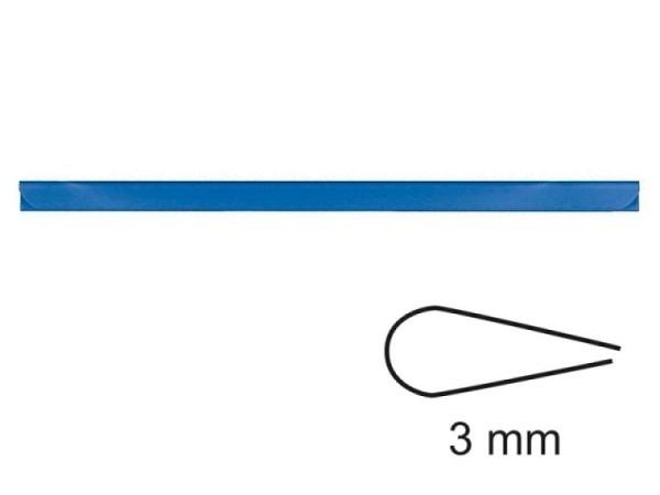Klemmschiene 3mm blau A4, klemmt ca. 30Blatt fest