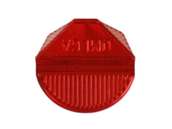 Eckenklammern Omega Aluminium rot 100Stk.