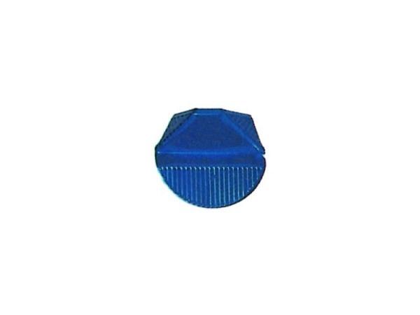 Eckenklammern Omega Aluminium blau 100Stk.