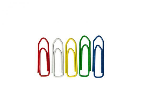 Büroklammern Alco farbig 26mm lang 100Stk.