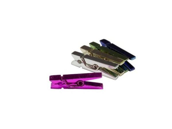 Klammern Alco metallic farbig 25mm lang, Wäscheklammern