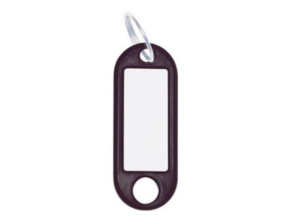 Schlüsselanhänger Wedo Plastik schwarz