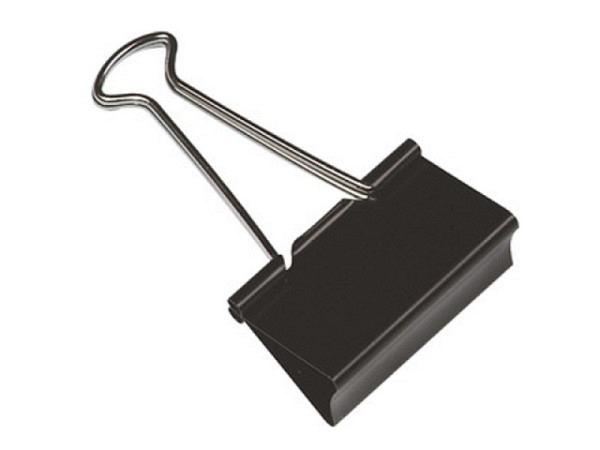 Aktenklammer Q-Connect Foldback schwarz 10Stk 41mm Klemmbreite