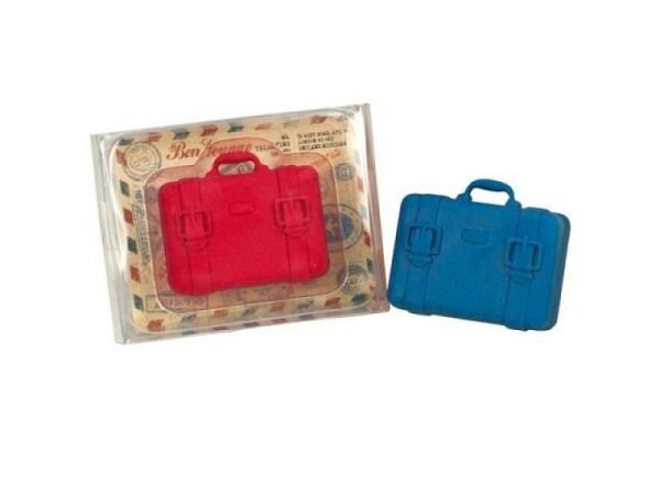 Radiergummi Bon Voyage, in Kofferform rot u. blau assortiert