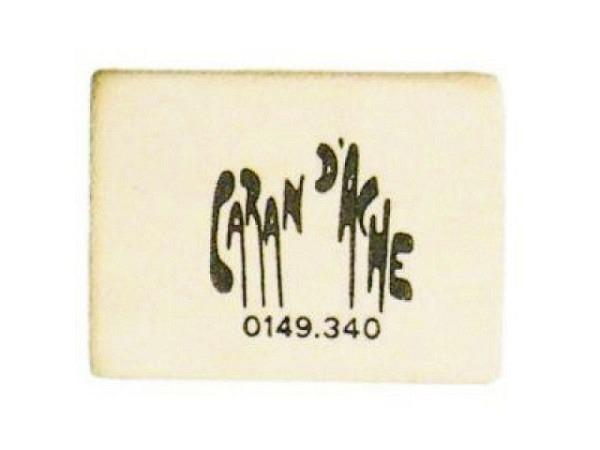 Radiergummi Caran dAche weiss eckig 40x23x9mm für Blei- und Farbstifte, weicher Schülergummi, phthal