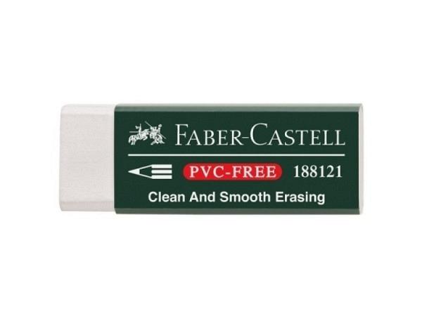 Radiergummi Faber-Castell Dust-Free Kunststoff 7081 weiss