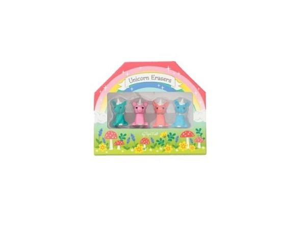 Radiergummi Bertoy Tiger Tribe Unicorn Erasers 4er Set