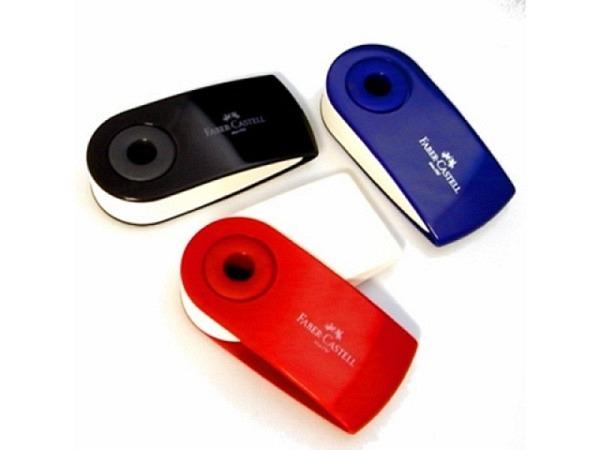 Radiergummi Faber-Castell Sleeve schwarz, rot oder blau