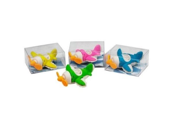 Radiergummi Flugzeug assortiert in 4 Farben