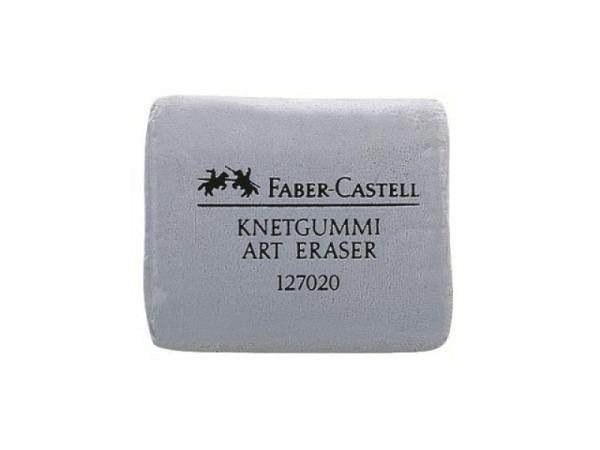 Knetgummi Faber-Castell grau Art Eraser, zum Korrigieren und Aufhellen von Kohle- und Pastellarbeite
