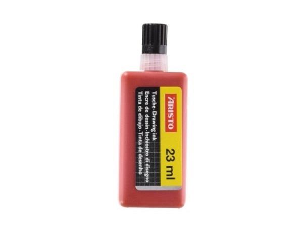 Tusche Aristo für mg1 rot 23ml Kunststoffflasche