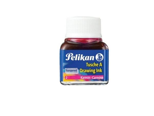 Tusche Pelikan Glas 10ml wasserfest karmin 2, lichtecht