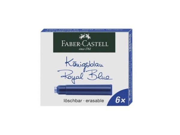 Tintenpatrone Faber-Castell Standard königsblau, 6 Stück