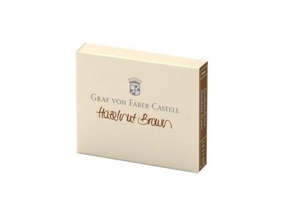 Tintenpatrone Graf von Faber-Castell haselnussbraun 6Stück
