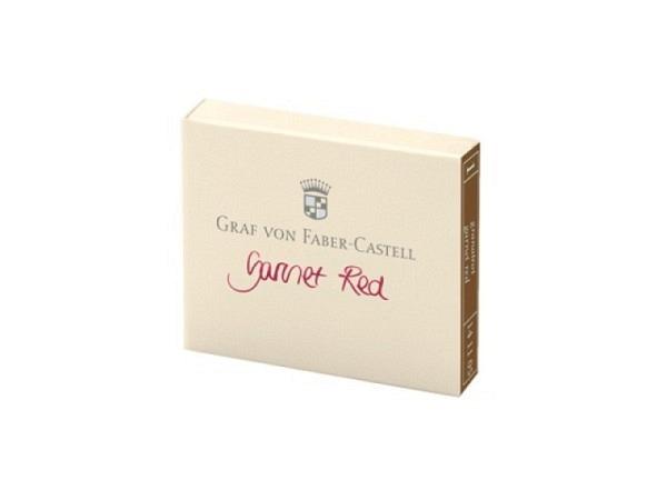 Tintenpatrone Graf von Faber-Castell granatrot 6Stück
