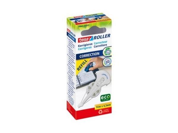 Korrekturroller Pritt 8,4mmx14m komplett, nachfüllbar, für mittiges Korrigieren, auch für Linkshänder geeignet, trocken korrigieren, sofort überschreiben, ohne Ränder beim Kopieren, einfacher Kassettenwechsel, Kassetten mit hohem Anteil an recycel..