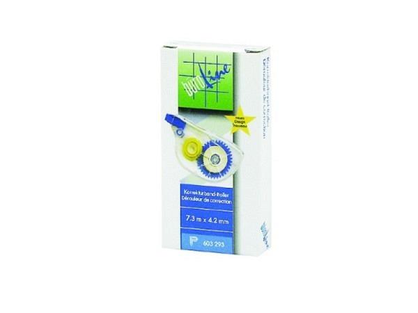 Korrekturroller Büroline 4,2mmx7,3m seitlich abrollbar transparentes Gehäuse
