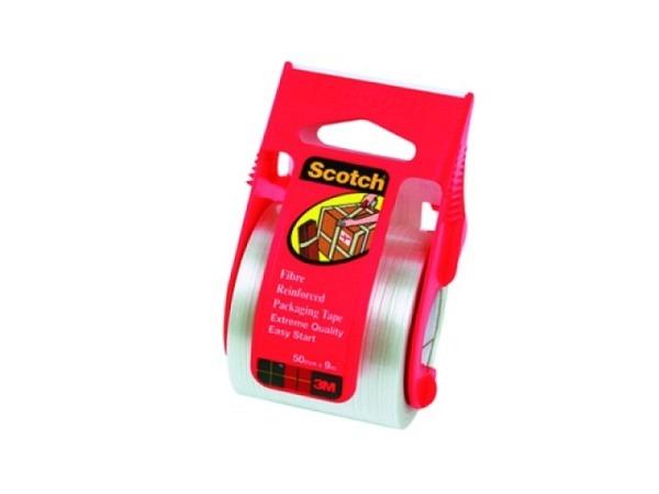 Verpackungsband Scotch glasfaserverstärkt, Abroller 50mmx9m