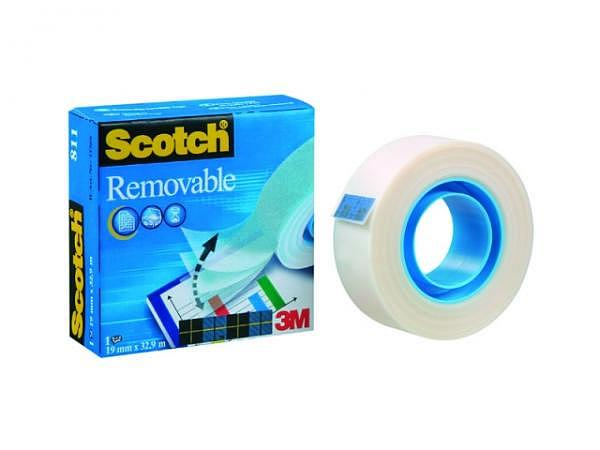 Klebeband Scotch Magic II Removable 19mmx33m