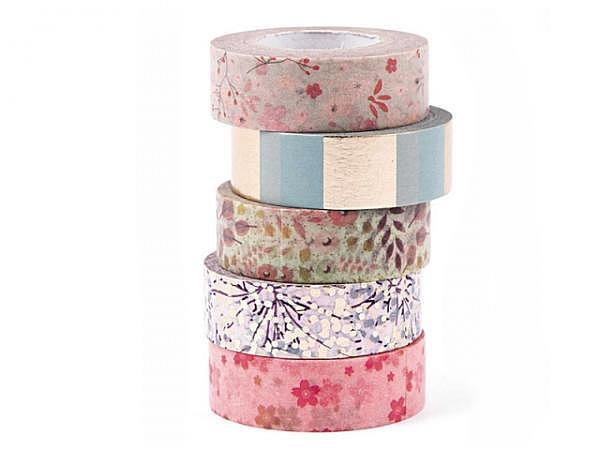 Klebeband PaperPoetry Bouquet Sauvage 5er Set