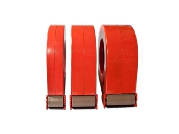 Abroller Tesa für Verpackungsbänder 50mm Breite, rötlich