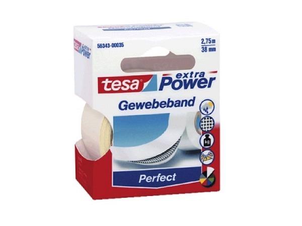 Gewebeband Tesa wetterfest 19mmx2,75m weiss