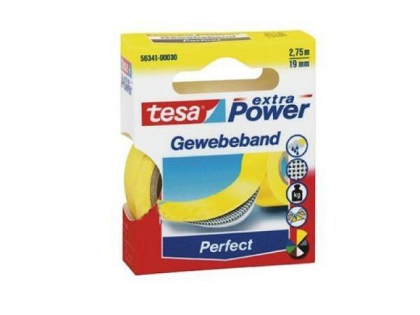 Gewebeband Tesa wetterfest 19mmx2,75m gelb