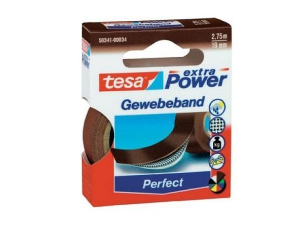 Gewebeband Tesa wetterfest 19mmx2,75m braun