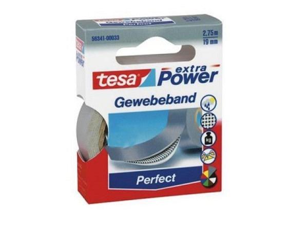 Gewebeband Tesa wetterfest 19mmx2,75m grau