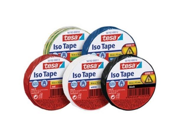 Isolierband Tesa Iso Tape 15mmx10m gelb/grün