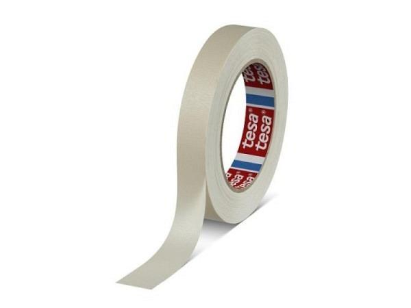 Abdeckband Tesa 25mmx50m Tesaband, Malerkrepp, hitzebeständig bis 90 Grad, gut imprägnierter Träger, hohe Reissfestigkeit, daher auch für Dispersionsfarben bestens geeignet