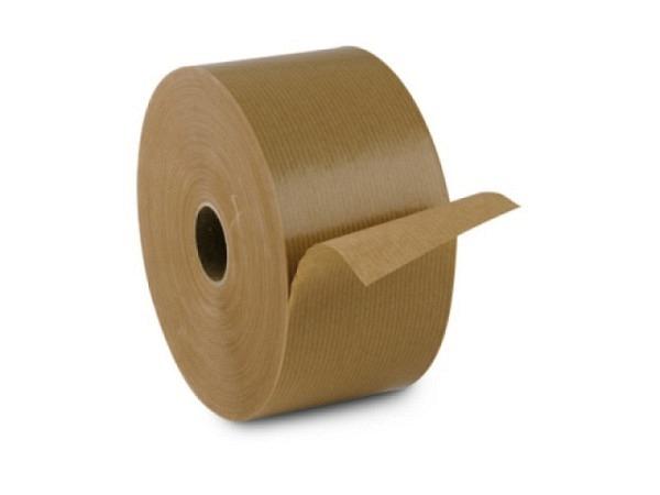 Nassklebeband braun 80mm breit, 200m lang, Kraftpack-Rolle