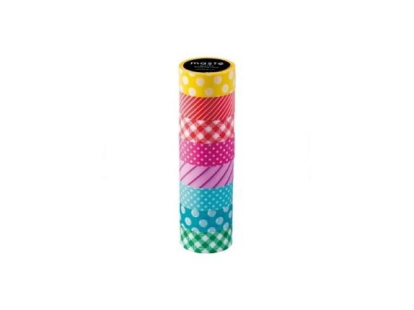 Klebeband Mark's Masté Washi Masking Tape Basic Colourful color Mix7