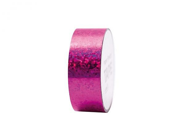 Klebeband PaperPoetry Hot Foil Holographic Punkte pink