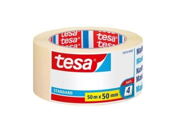 Abdeckband Tesa Flexible 50mmx25m, Malerkrepp, stark dehnbar daher auch gut geeignet für Kurvenklebungen, rückstandsfrei ablösbar innert 7 Tagen, lösungsmittelfrei