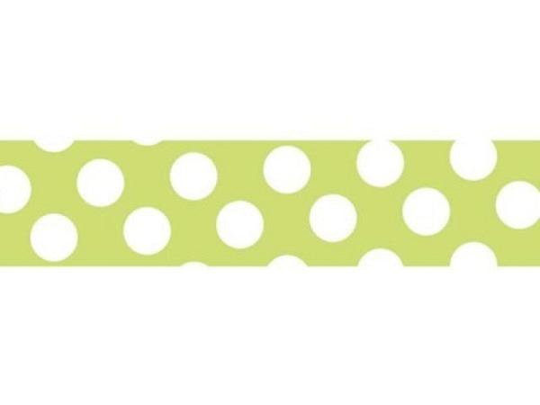 Klebeband Mark's Masté Washi Masking Tape Basic Neon Light Green Dots 15mmx7m<br>